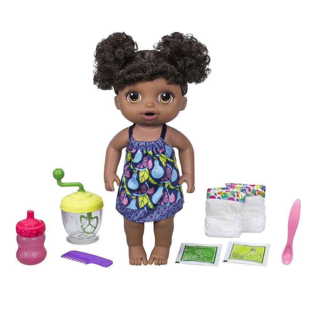 Baby Alive Sweet Spoonfuls Baby Doll Girl Brown Curly