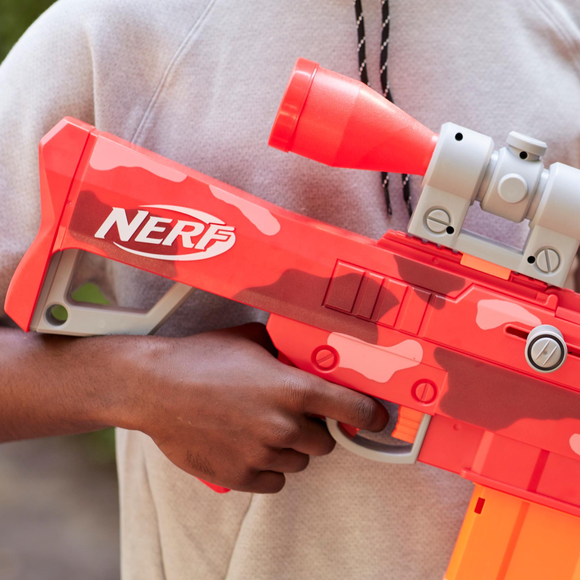 Nerf Fortnite Heavy SR Blaster, Longest Nerf Fortnite Blaster Ever, Removable Scope, 6 Nerf Mega Darts, 6-Dart Clip