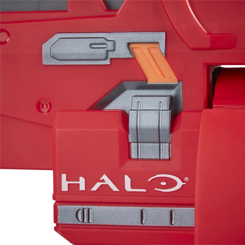 Nerf Halo Mangler Dart Blaster -- Pull-Back Priming Handle, Rotating 6-Dart Drum -- Includes 6 Official Nerf Elite Darts