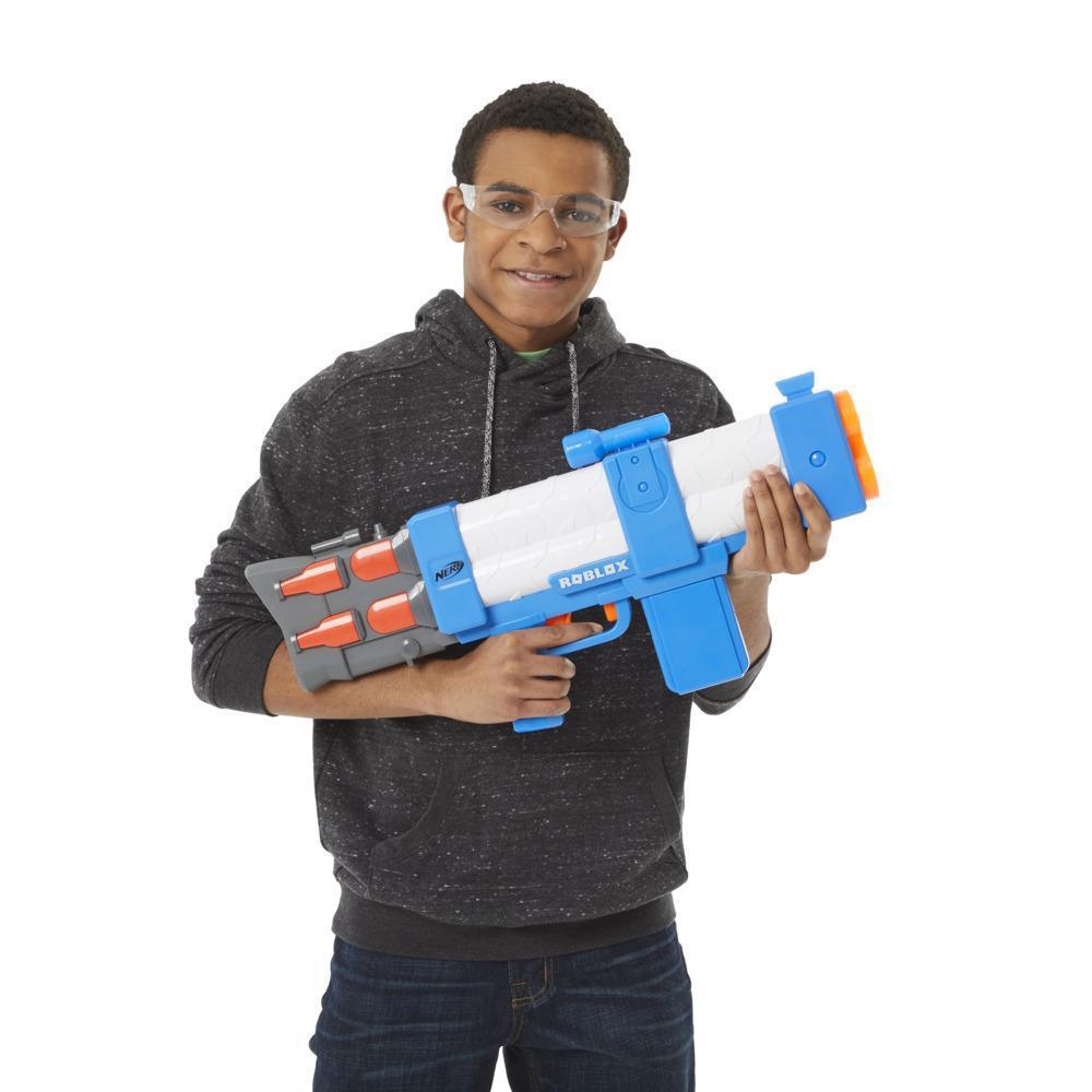 Nerf Roblox Arsenal: Pulse Laser Motorized Dart Blaster, 10 Nerf Darts, Clip, Code to Unlock In-Game Virtual Item