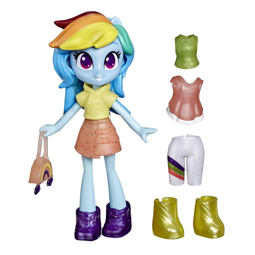 My Little Pony Equestria Girls Fashion Squad Rainbow Dash, 3-Inch Potion Mini Doll Toy with Outfit, Surprise Accessories