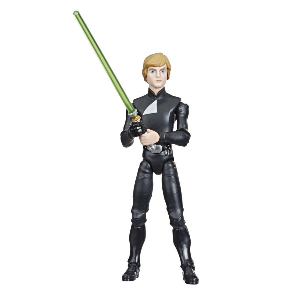 Star Wars Galaxy of Adventures Luke Skywalker 5-inch Scale Figure with Lightsaber Feature, Toys for Kids Ages 4 and Up