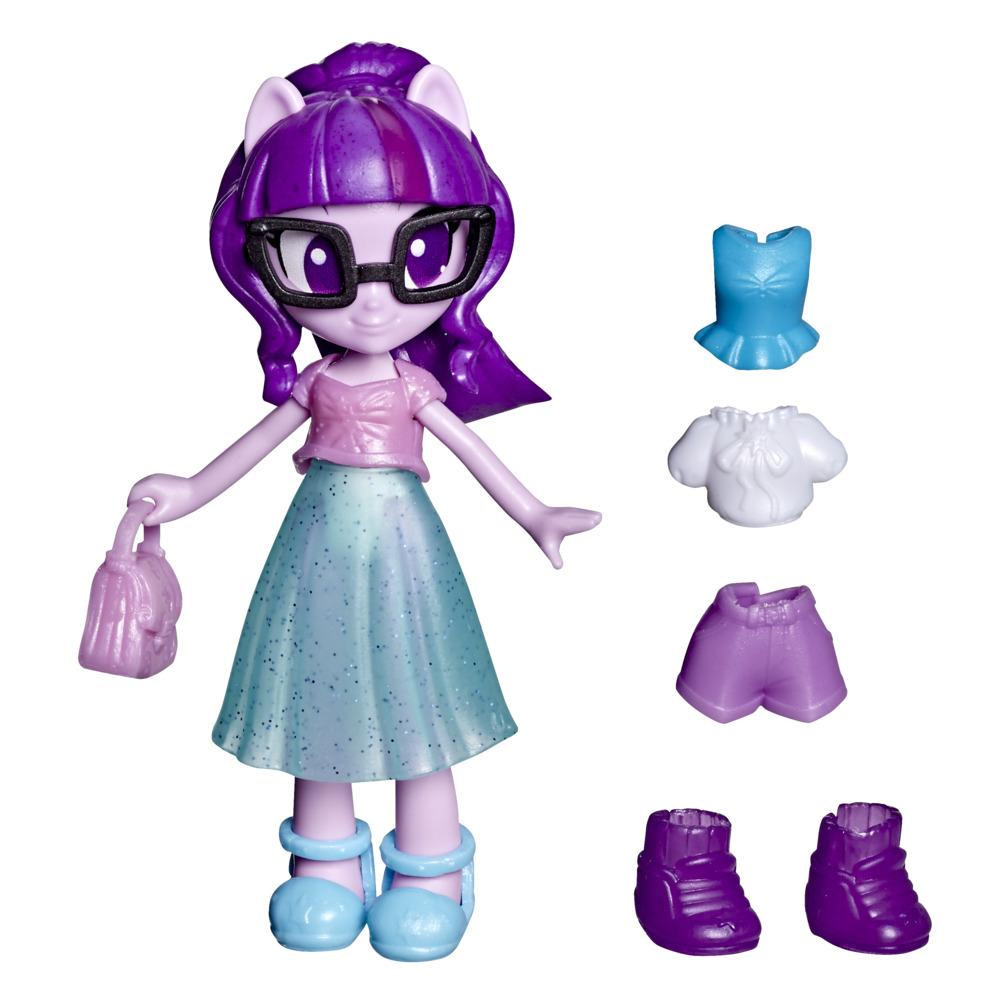 My Little Pony Equestria Girls Fashion Squad Twilight Sparkle, 3-Inch Potion Mini Doll Toy with Outfit, Surprise Accessories
