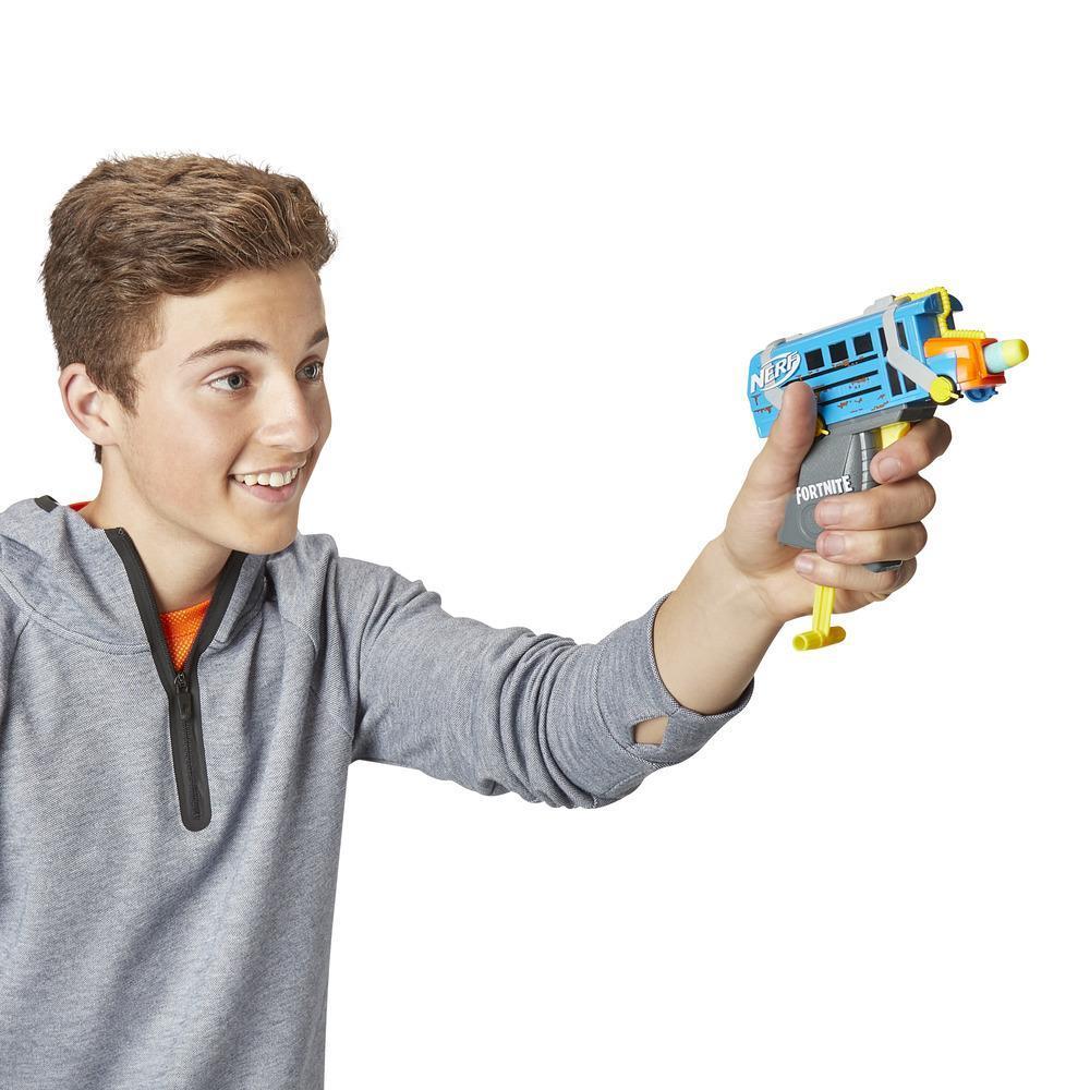 Fortnite Micro Battle Bus Nerf MicroShots Dart-Firing Toy Blaster