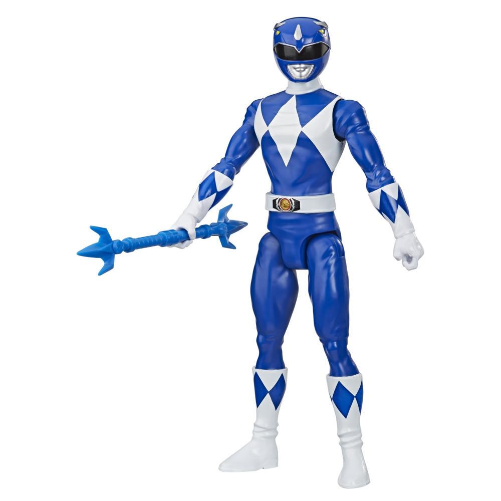 Power Rangers Mighty Morphin Blue Ranger 12-Inch Action Figure Toy Inspired by Classic Power Rangers TV Show