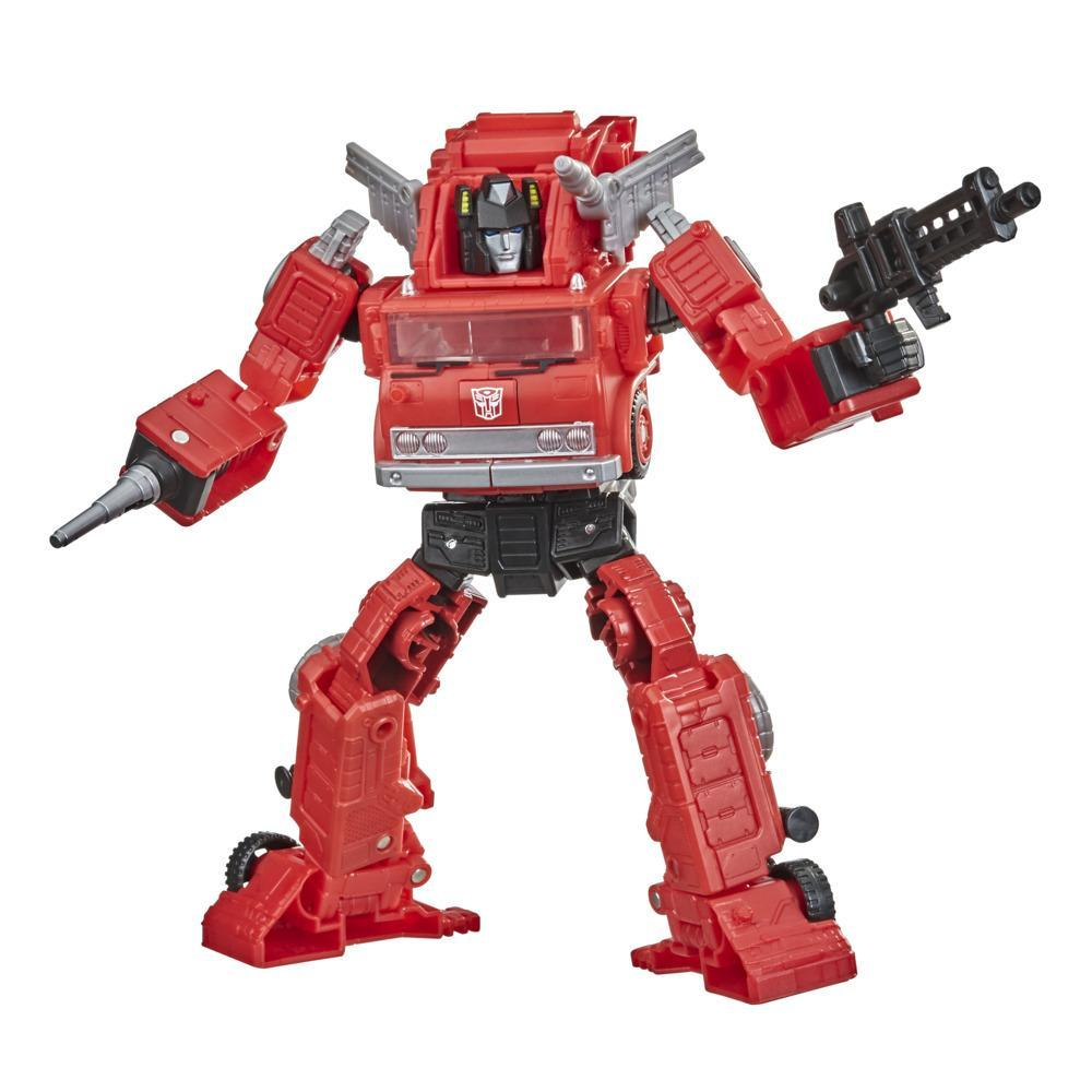 Transformers Toys Generations War for Cybertron: Kingdom Voyager WFC-K19 Inferno Action Figure - 8 and Up, 7-inch