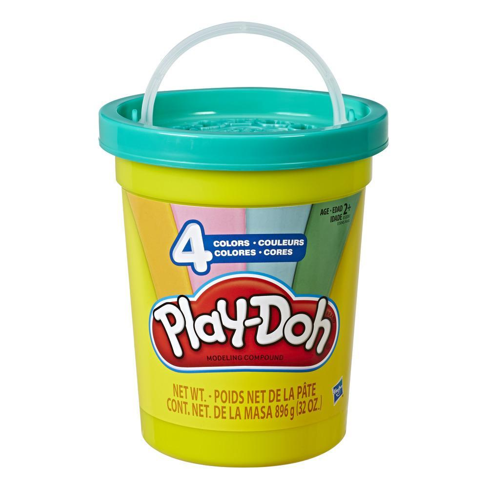 Play-Doh 2-lb. Bulk Super Can of Non-Toxic Modeling Compound with 4 Modern Colors - Light Blue, Green, Orange, and Pink