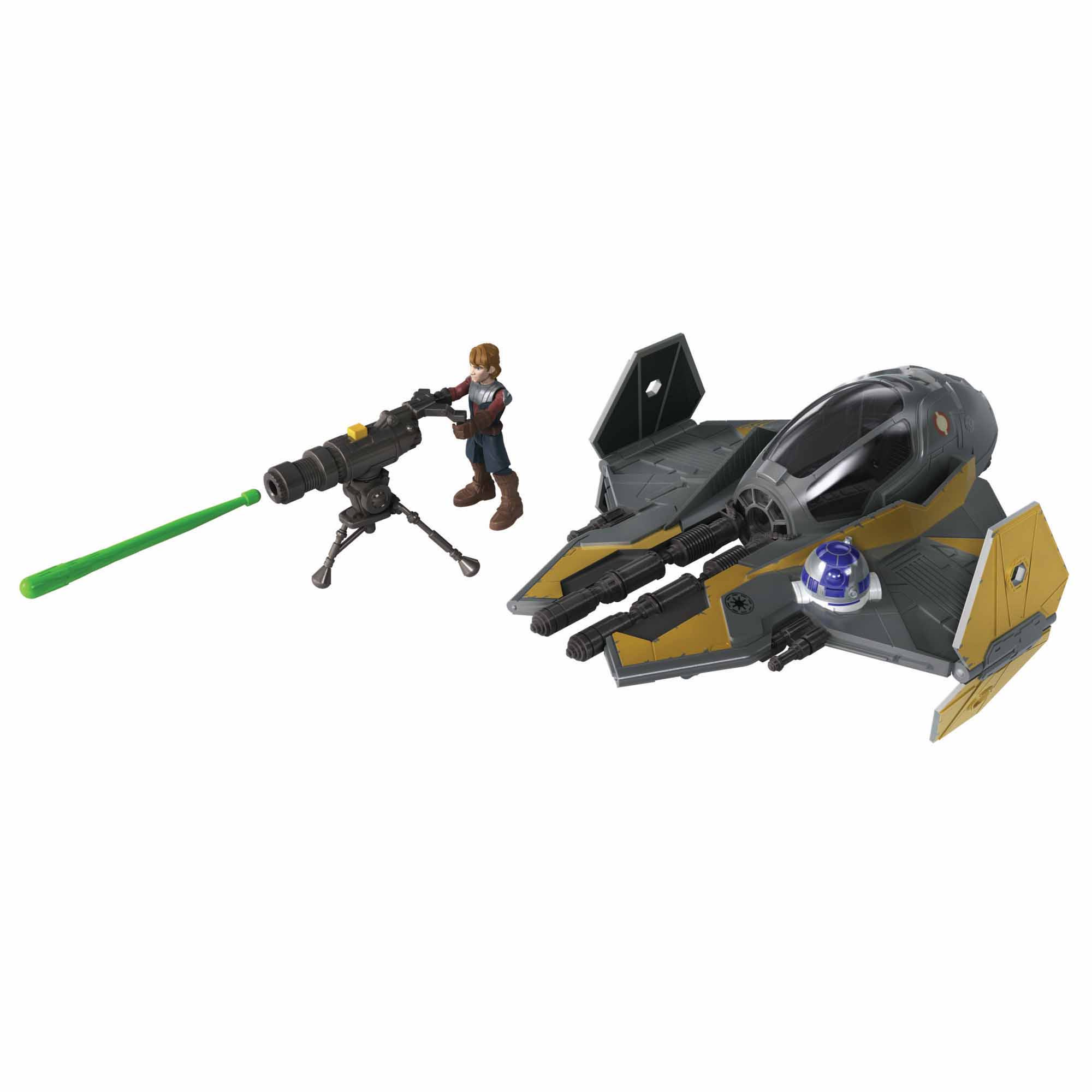 Star Wars Mission Fleet Stellar Class Anakin Skywalker Jedi Starfighter 2.5-Inch-Scale Figure and Vehicle, Ages 4 and Up
