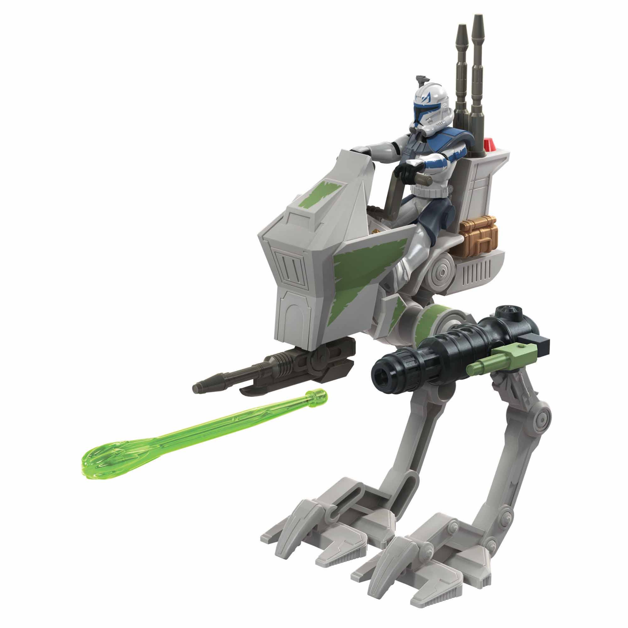 Star Wars Mission Fleet Expedition Class Captain Rex Clone Combat 2.5-Inch-Scale Figure and Vehicle, Kids Ages 4 and Up