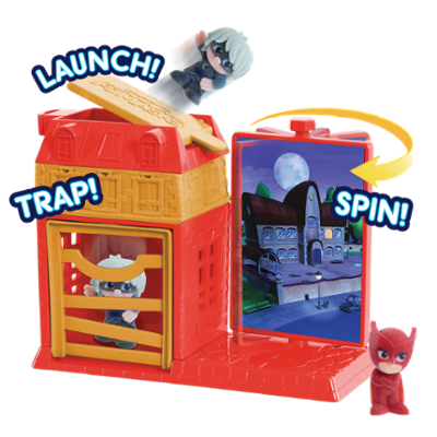 PJ Masks Night Time Micros Trap & Escape Playset - Owlette & Luna