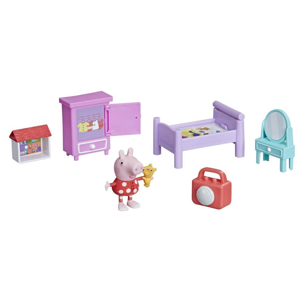 Peppa Pig Peppa's Adventures Bedtime with Peppa Accessory Set with 3-inch Peppa Pig Figure and 5 Accessories