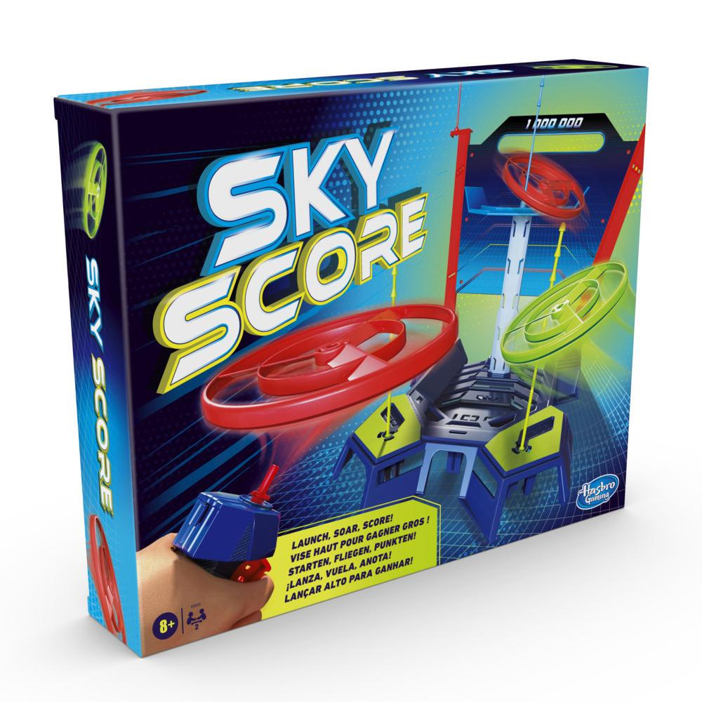Sky Score Game; Launch and Score Game With Spinners for Ages 8 and Up