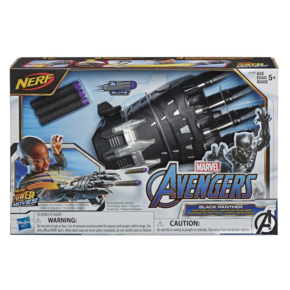 NERF Power Moves Marvel Avengers Black Panther Power Slash NERF Dart-Launching Toy for Kids Roleplay, Kids Ages 5 and Up