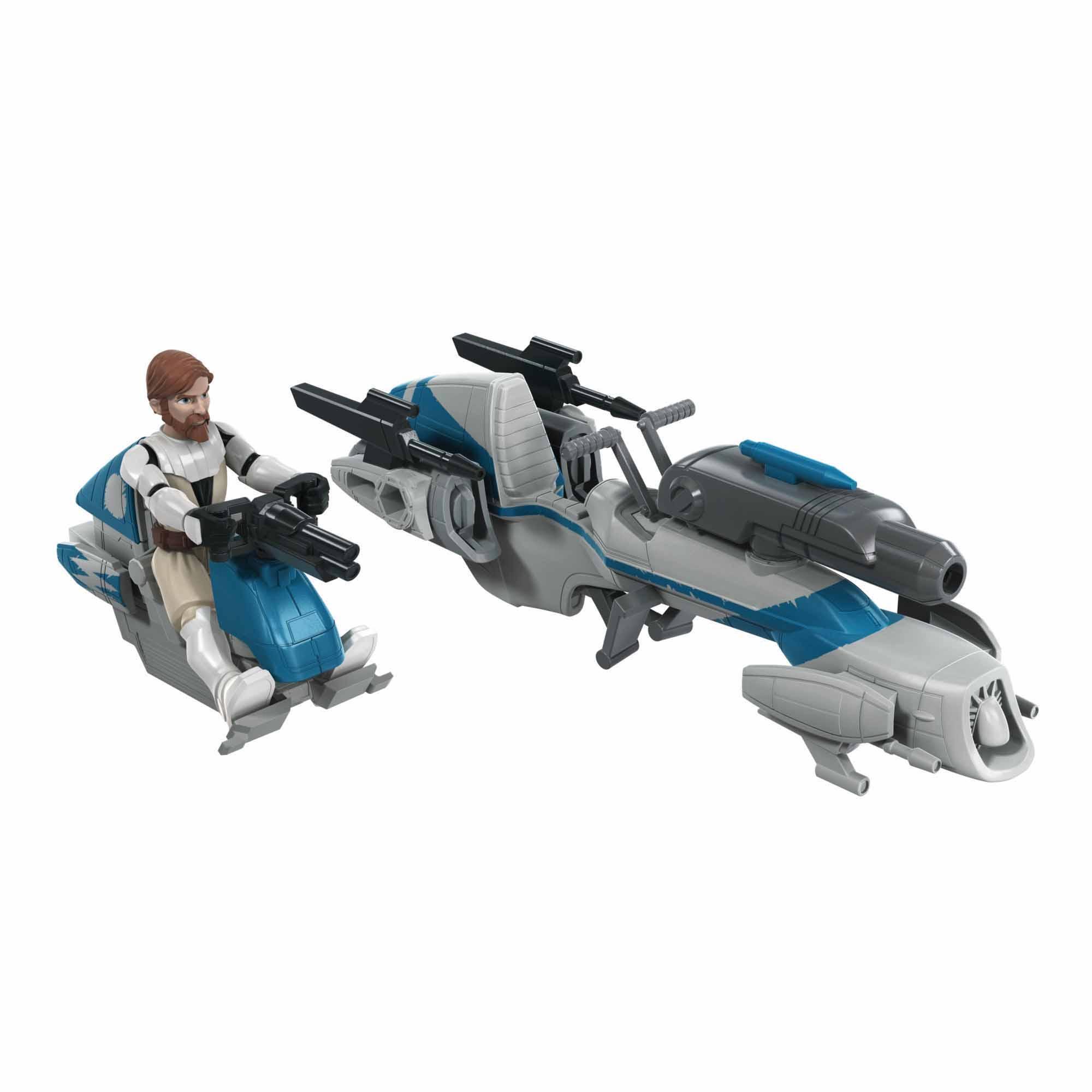 Star Wars Mission Fleet Expedition Class Obi-Wan Kenobi Jedi Speeder Chase 2.5-Inch-Scale Figure and Vehicle