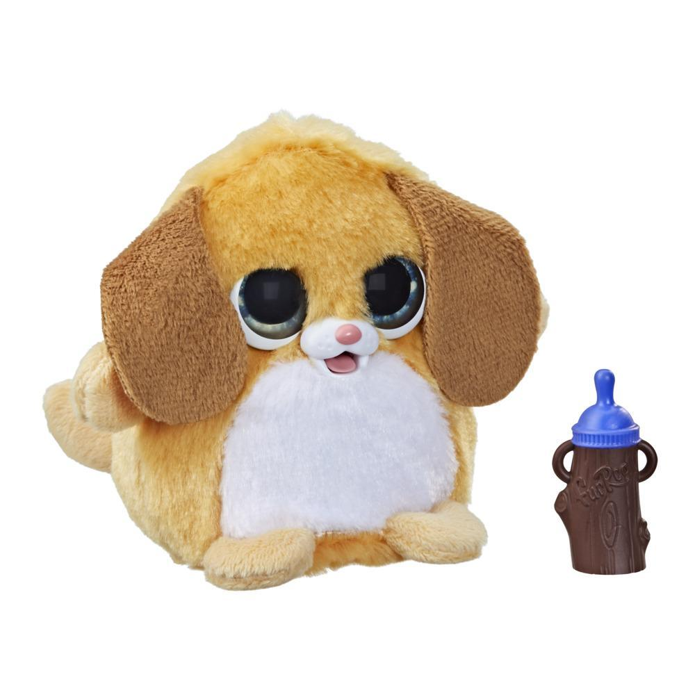 furReal Fuzzalots Puppy Color-Change Interactive Feeding Toy, Ages 4 and up