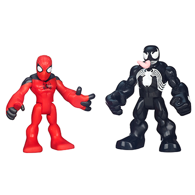Playskool Heroes Marvel Super Hero Adventures Scarlet Spider-Man and Venom Figures
