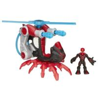 Playskool Heroes Marvel Super Hero Adventures Arachno-Blade Copter Vehicle with Big Time Spider-Man
