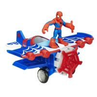 Playskool Heroes Marvel Super Hero Adventures Stunt Wing Spider Plane Vehicle with Spider-Man Figure