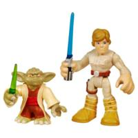PLAYSKOOL HEROES STAR WARS JEDI FORCE Yoda and Luke Skywalker Figure 2 Pack
