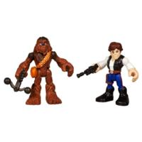 PLAYSKOOL HEROES STAR WARS JEDI FORCE Han Solo and Chewbacca Figure 2 Pack