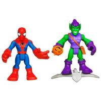 PLAYSKOOL HEROES MARVEL SPIDER-MAN ADVENTURES Spider-Man and Green Goblin Figure 2 Pack