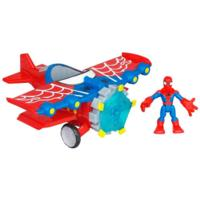 PLAYSKOOL HEROES MARVEL SPIDER-MAN ADVENTURES Stunt Wing Spider Plane with Spider-Man