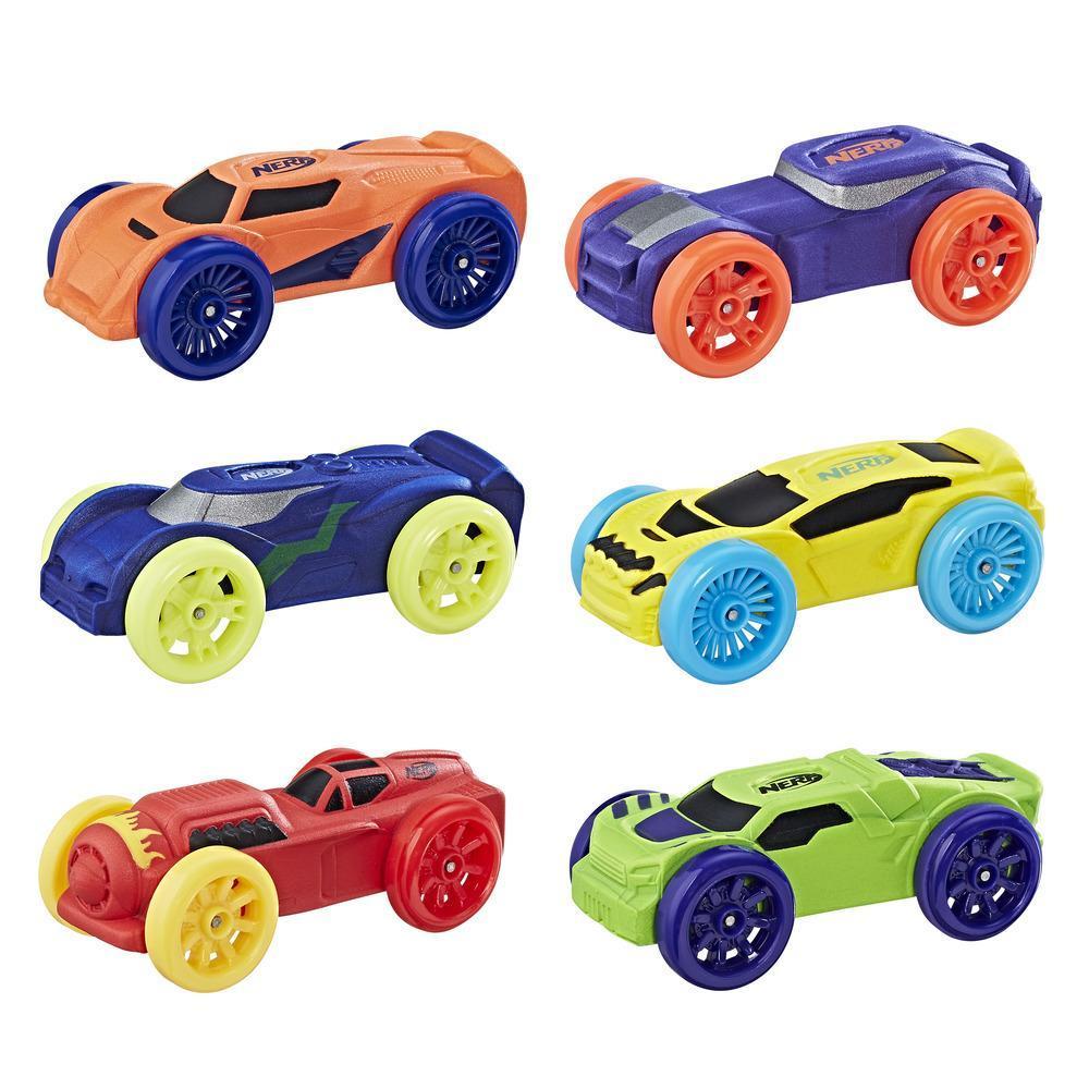 Nerf Nitro Foam Car 6-Pack (Pack 1)