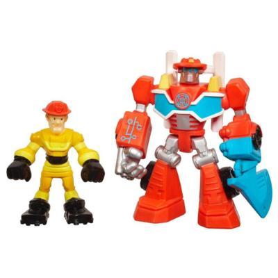Playskool Heroes Transformers Rescue Bots Energize Heatwave the Fire-Bot & Kade Burns 2-Pack