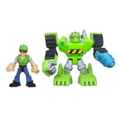 Playskool Heroes Transformers Rescue Bots Boulder The Construction-Bot & Graham Burns