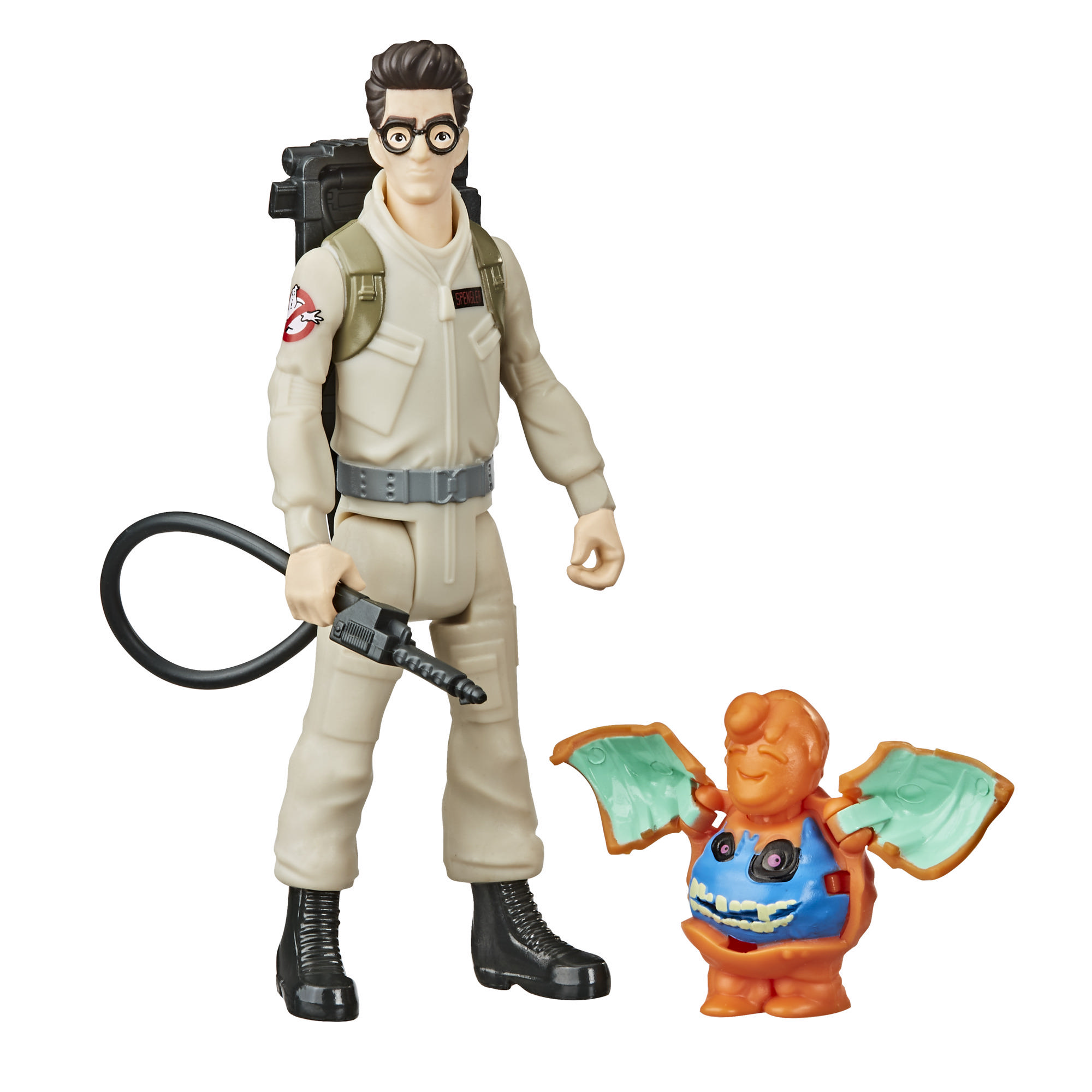 Ghostbusters Fright Features Egon Spengler Figure with Interactive Ghost Figure and Accessory for Kids Ages 4 and Up