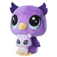 Littlest Pet Shop Lilac Nocturna and Owlette Nocturna Plush Pairs