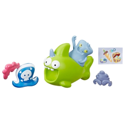UglyDolls Babo and Squish-and-Go Sharwhal, 2 Toy Figures with Accessories