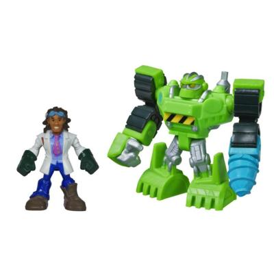 Playskool Heroes Transformers Rescue Bots Boulder the Construction-Bot and Doc Greene