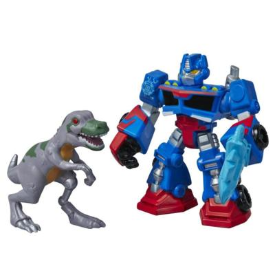 Playskool Heroes Transformers Rescue Bots Optimus Prime and T-rex Figure Pack