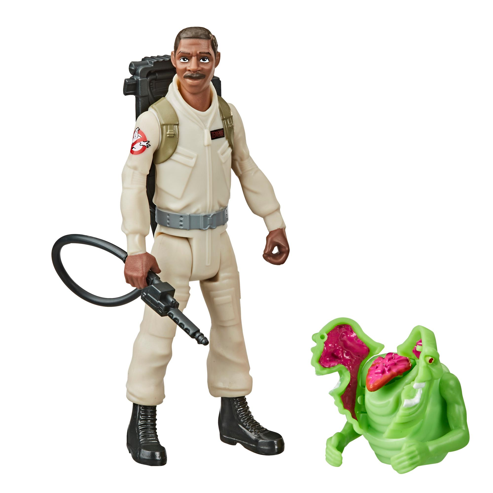 Ghostbusters Fright Features Winston Zeddemore Figure with Interactive Slimer Figure and Accessory, Kids Ages 4 and Up