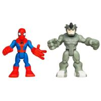 MARVEL Spider-Man Adventures PLAYSKOOL HEROES SPIDER-MAN and RHINO 2-Pack