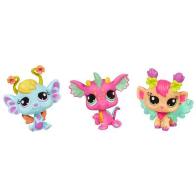 LITTLEST PET SHOP FAIRIES GLISTENING GARDEN 3-PACK (Daylily, Lavender, Dragon)