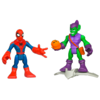 MARVEL Super Hero Adventures PLAYSKOOL HEROES SPIDER-MAN and GREEN GOBLIN
