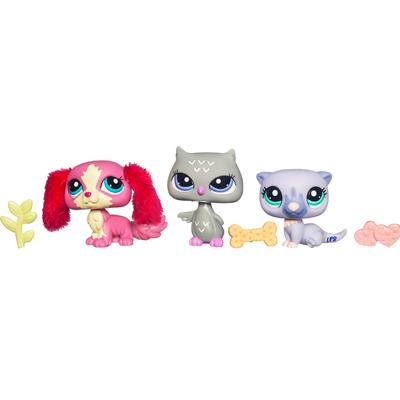 LITTLEST PET SHOP CUTEST PETS Owl, Spaniel and Otter 3-Pack