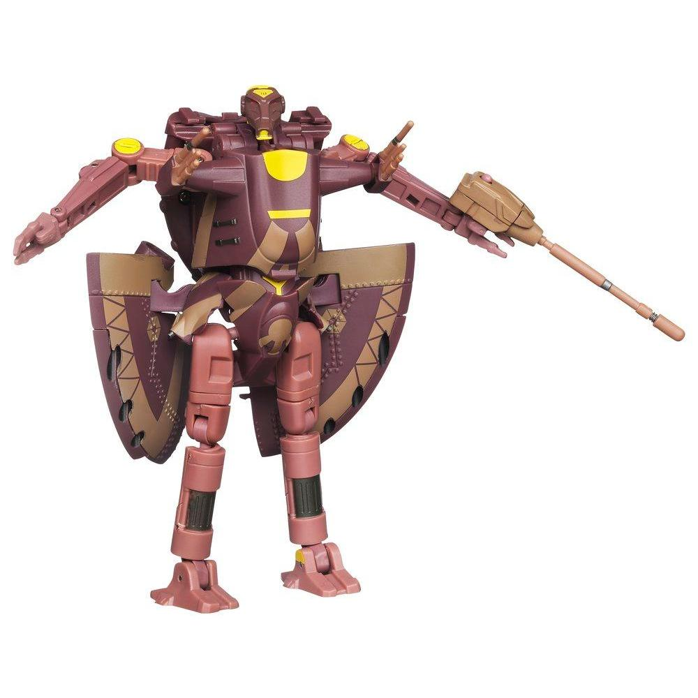 STAR WARS TRANSFORMERS CROSSOVERS BATTLE DROID Commander to AAT Vehicle