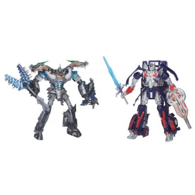 Transformers Age of Extinction Generations Leader Class Optimus Prime and Grimlock Figures