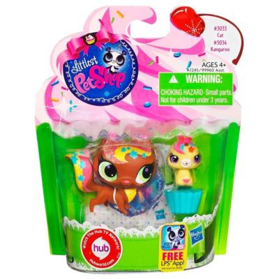 Littlest Pet Shop Sweetest Kitty and Kangaroo 2-Pack