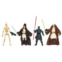 STAR WARS Blu-Ray Release Commemorative Figure and Mini-Poster Collection EPISODE I THE PHANTOM MENACE Set