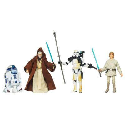STAR WARS Blu-Ray Release Commemorative Figure and Mini-Poster Collection EPISODE IV A NEW HOPE Set