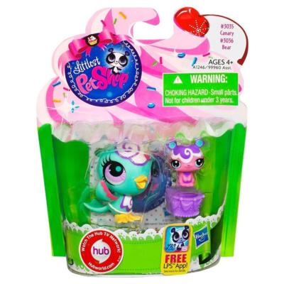 Littlest Pet Shop Sweetest Canary and Bear 2-Pack