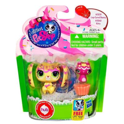 Littlest Pet Shop Sweetest Bunny and Kitty 2-Pack