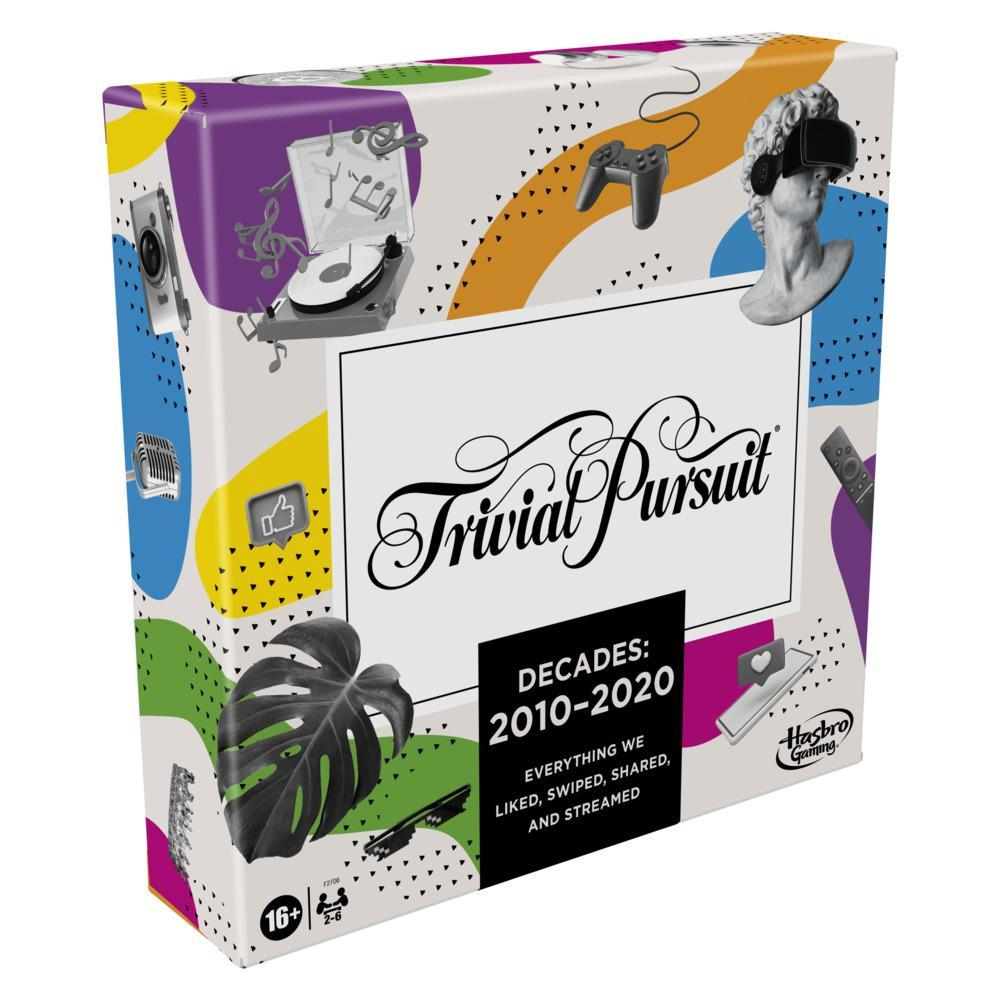 Trivial Pursuit Decades 2010 to 2020 Board Game for Adults and Teens, Pop Culture Trivia Game, Ages 16 and Up
