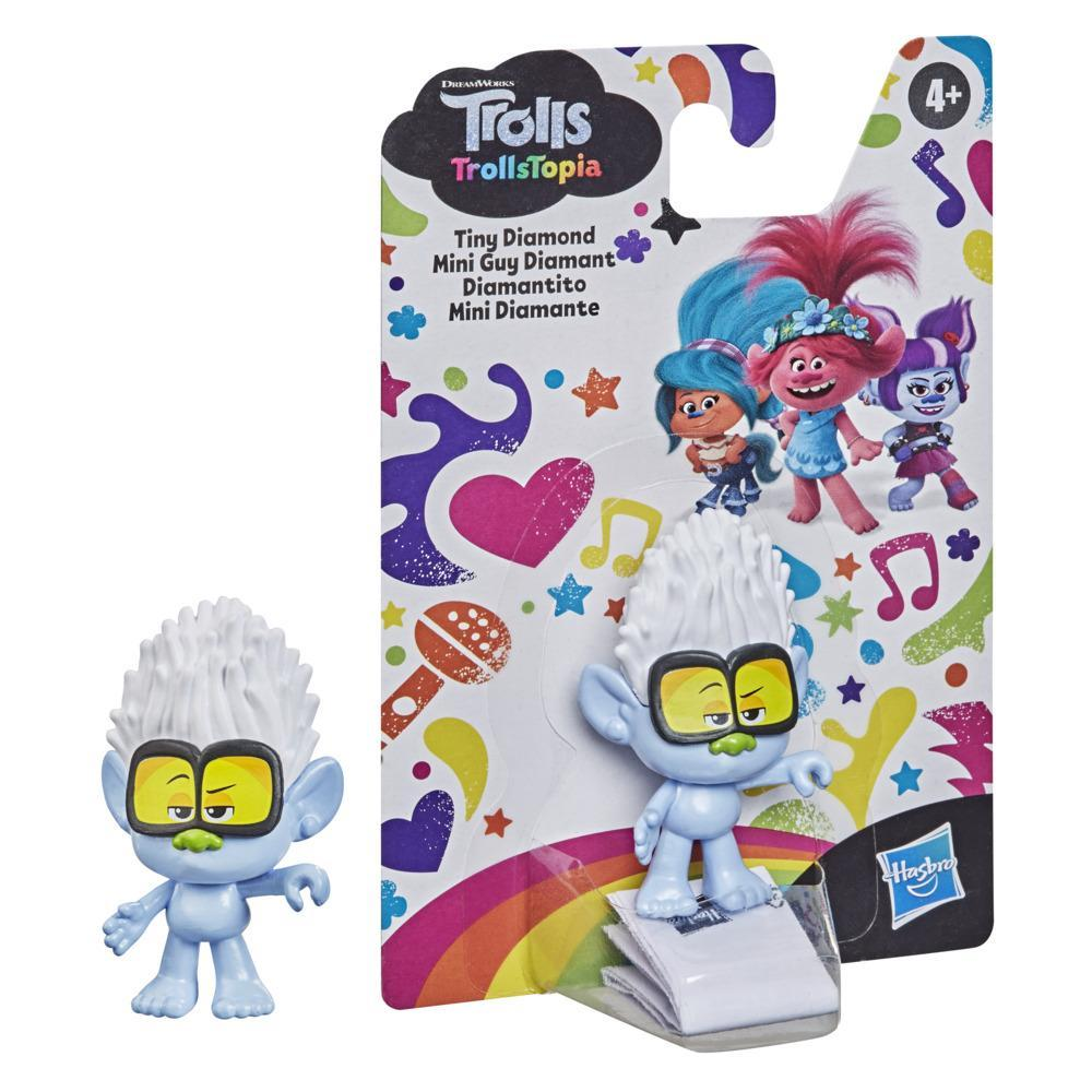DreamWorks TrollsTopia Tiny Diamond Collectible Figure, Toy Inspired by the TrollsTopia series, For Kids 4 and Up