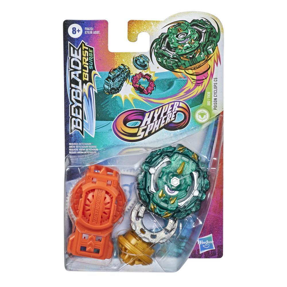 Beyblade Burst Rise Hypersphere Poison Cyclops C5 Starter Pack -- Defense Type Battling Game Top and Launcher Toy