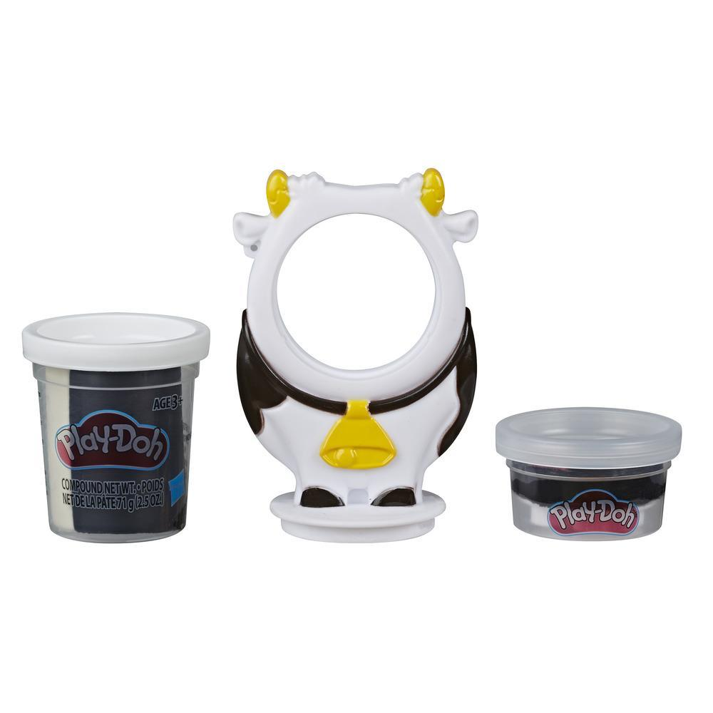 Play-Doh Animal Crew Can Pals Cow Toy - Non-Toxic Play-Doh Compound Shaped into a Funny Cow Character